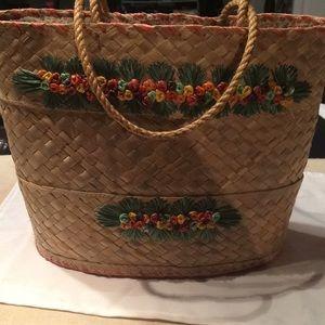 Handbags - Vintage straw bag